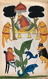 The court of the jackal raja