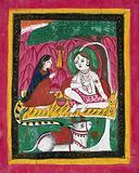 Shiva and Parvati seated with Nandi bull