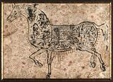 A horse formed with Arabic verses
