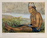 Borneo: a Dayak (?) woman, seated