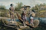 Dutch East Indies: a man with two women and a baby