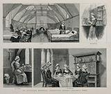 Scenes of nurses at St Saviour's Hospital, Regent's Park, London