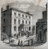 Poplar Hospital for Accidents, East India Dock Road, Blackwall, London: three-quarter view
