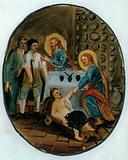 Saint Cosmas and Saint Damian treating the sick