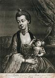 Queen Caroline and George Prince of Wales as an infant seated on her lap