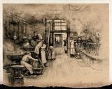A pharmaceutical business (John Bell & Co): rooms for manufacture, dispensing, and shop