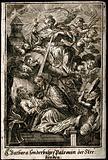 Saint Barbara comforting the dying