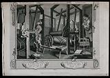 In a Spitalfields silk weaver's shop two contrasting apprentices, Tom Idle, asleep, and Francis Goodchild, engrossed …