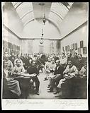 Saint George's Hospital, London: the dissecting room with students and lecturers, including Henry Gray