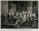 Thomas Bambridge, warden of the Fleet prison, before a committee of the House of Commons visiting the prisons