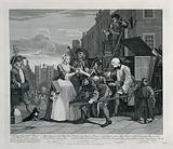 Tom Rakewell is arrested for debt on his way to the Royal Court to seek preferment when he is saved by Sarah Young