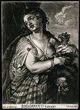 Judith with a sword holding the head of Holofernes