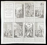 Corruption in the British government under Walpole, and its opponents represented by Caleb D'Anvers: seven scenes