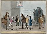 Roebuck attempts to exchange a horse with the head of Lord Durham for another with the head of Lord Brougham as a …