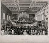 A meeting at Exeter Hall on the abolition of the slave trade