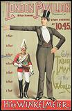 Poster advertising the tallest man in the world