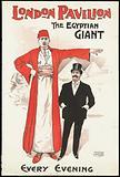 Poster: London Pavilion: the Egyptian Giant