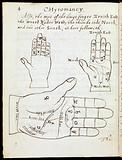 Illustration of 3 hands in Chyromancy