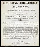 Leaflet: The Royal Mercatorium, or St James's Bazaar…