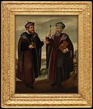 SS. Cosmas and Damian in a landscape