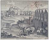 A pack-horse carrying bribes is sent by Robert Walpole from Westminster to Edinburgh