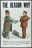 A rich man and a workman arguing about the budget introduced by the Liberal Government in the United Kingdom