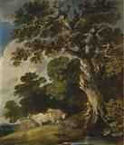 A Wooded Landscape with Cattle and Herdsman