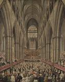 Interior View of Westminster Abbey on the Commemoration of Handel, Taken from the Manager's Box