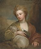 Portrait of a Woman as St Agnes, Traditionally Identified as Catherine Voss