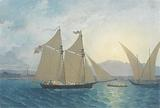 "The Launch of ""La Sorciére"" on the Lake of Geneva"