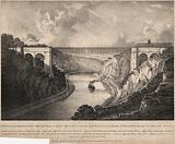 Mr William Armstrong's Design for a Chain Bridge across the River Avon, from St Vincents Rock to Leigh Down