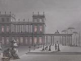 An Italian Fete: Figures on Terrace of a Palazzo