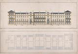 Facade and Ground Plan of a Terrace of Houses