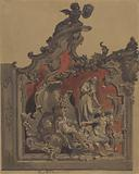 School of St Rocco, Venice, Study of Curved Decoration