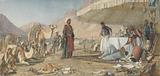 A Frank Encampment in the Desert of Mount Sinai. 1842 – The Convent of St Catherine in the Distance.