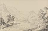 Album of 30 Views in the Tyrol and Italy: Between Brixen and Klausen – Tyrol, 27th Oct. R 1840.