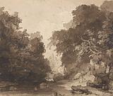 Roslyn Castle – a wooded river landscape