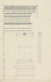 Detailed and Measured drawing of Column from Pedestal to Entablature of a Temple at Baalbec