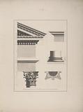 Architectural Details of Pedestal Column and Entablature and Pediment Makther
