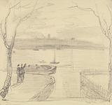 Sketched View from East Cowes, West Cowes in the Distance