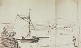 Sketch of a Sailing Boat