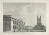 South Front of the Senate House and West End of St Mary's Church in the University of Cambridge