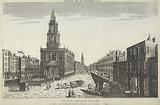 A View of Somerset House with St Mary's Church in the Strand, London