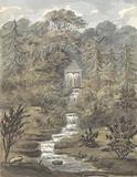 Temple and Falls, Sezincote