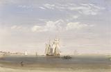 A Merchantman Becalmed Offshore