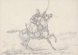 """Scraps"", no. 33: Mounted Mameluke Brandishing a Sword."