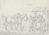 """""""Scraps"""", No 27: Two Dismounted Riders Drinking at an Alehouse Door"""