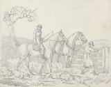 """""""Scraps"""", No 24: Hunting -Ttwo Riders, One Opening a Gate For Hounds"""