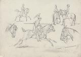 """""""Scraps"""", No 8: Scenes of a Lancer and Other Cavalry"""