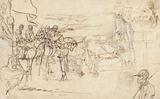 Sketch of the Start of a Race, and of a Horse